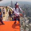 This Guy Jumps Off This Building. Insane!