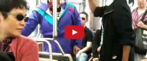 Shocking fight on the subway...